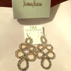 Nakamol blue Crystal beaded drop earrings